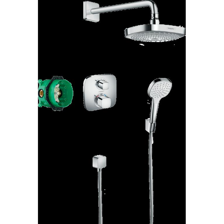 Купить Croma Select E Душевая система скрытого монтажа с термостатом Ecostat E у официального дилера HANSGROHE в Украине