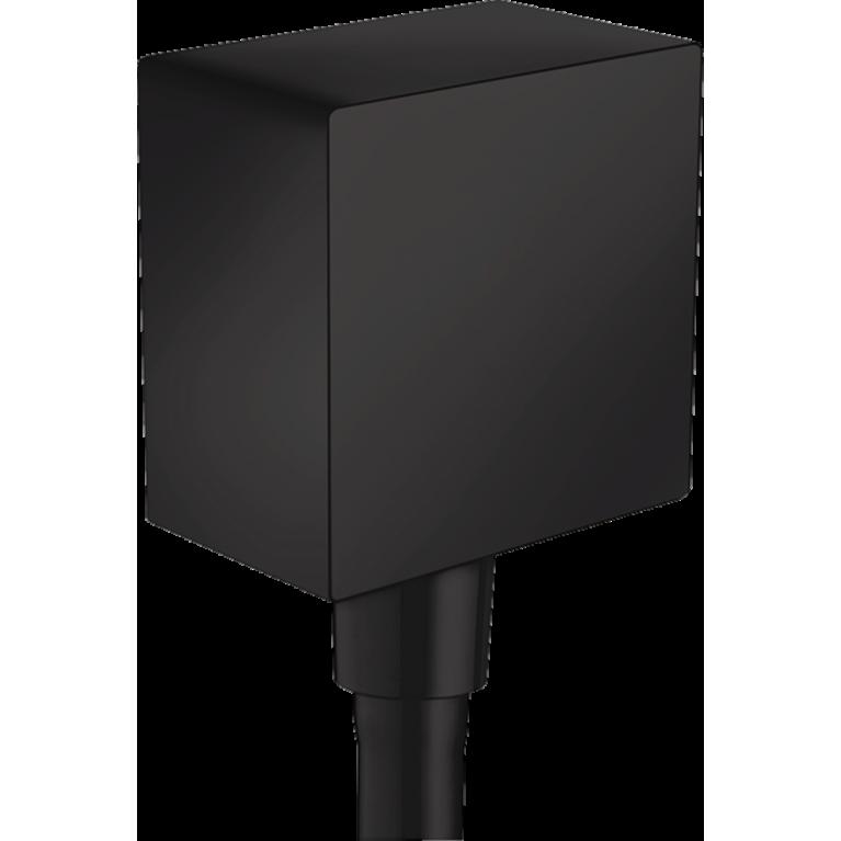 FixFit Шланговое подсоединение Square с клапаном, матовый черный, фото 1
