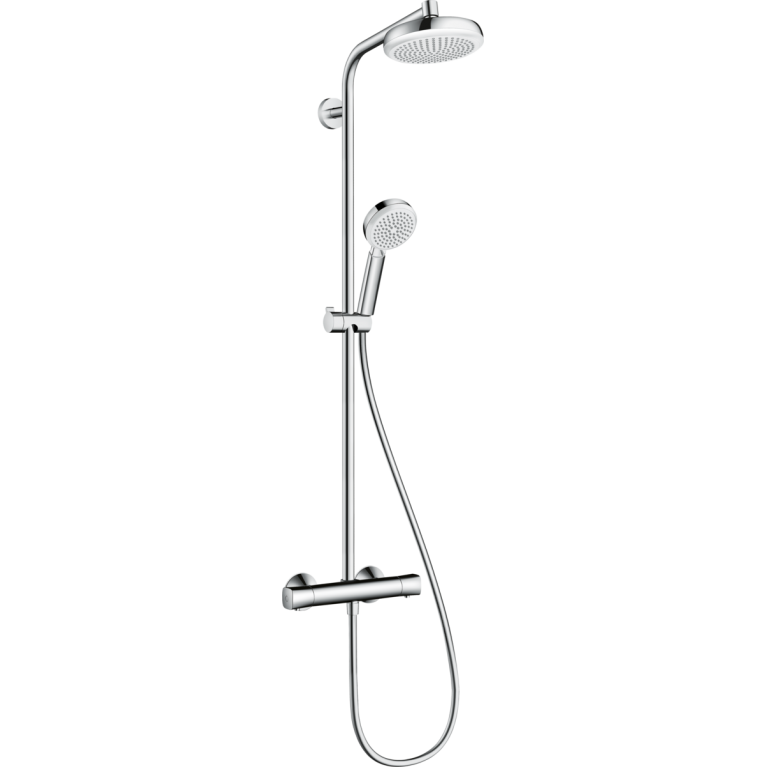 Crometta Showerpipe 160 Душевая система с термостатом, белый / хром, фото 1