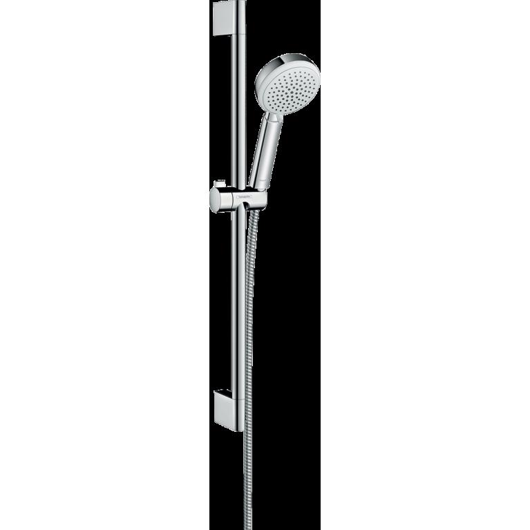 Crometta 100 Vario Душевой набор, штанга 65 см цв. белый хром, фото 1