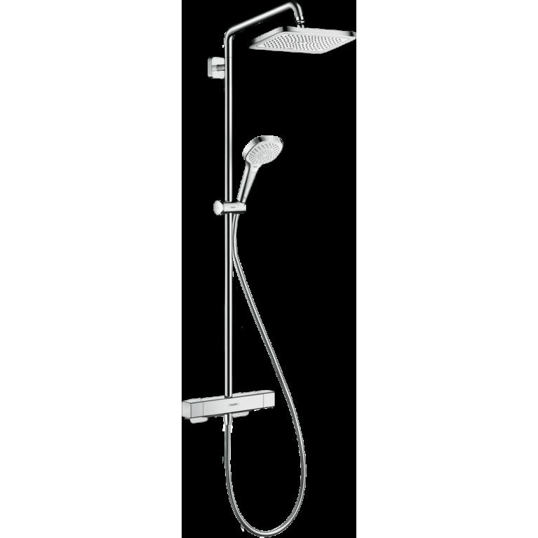 Купить Croma E Showerpipe Душевая система 280 1jet, с термостатом, хром у официального дилера HANSGROHE в Украине