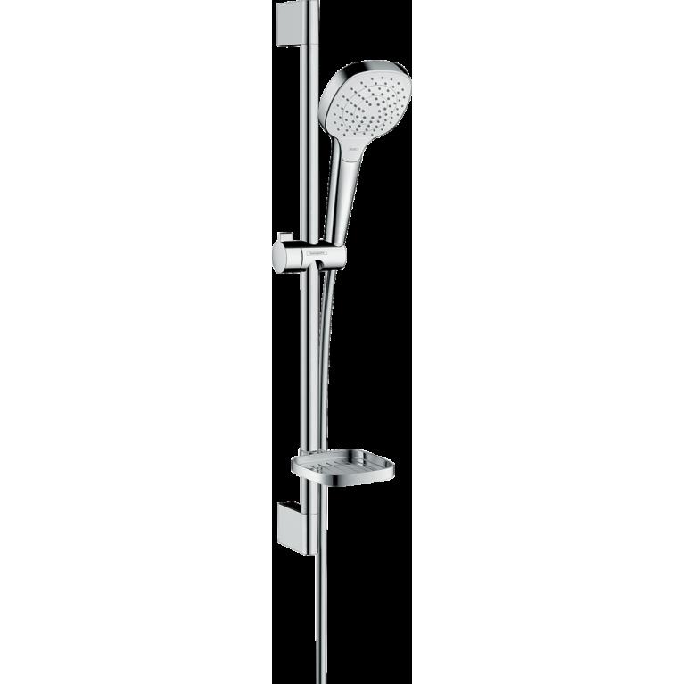 Croma Select E Vario Душевой набор со штангой 65 см и мыльницей, белый/хром, фото 1
