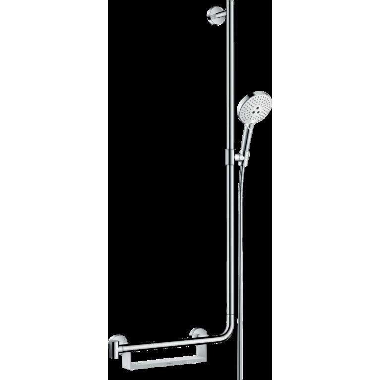 Raindance Select S Душевой набор 120 3jet,  штанга 110 см, правосторонний (белый / хром), фото 1