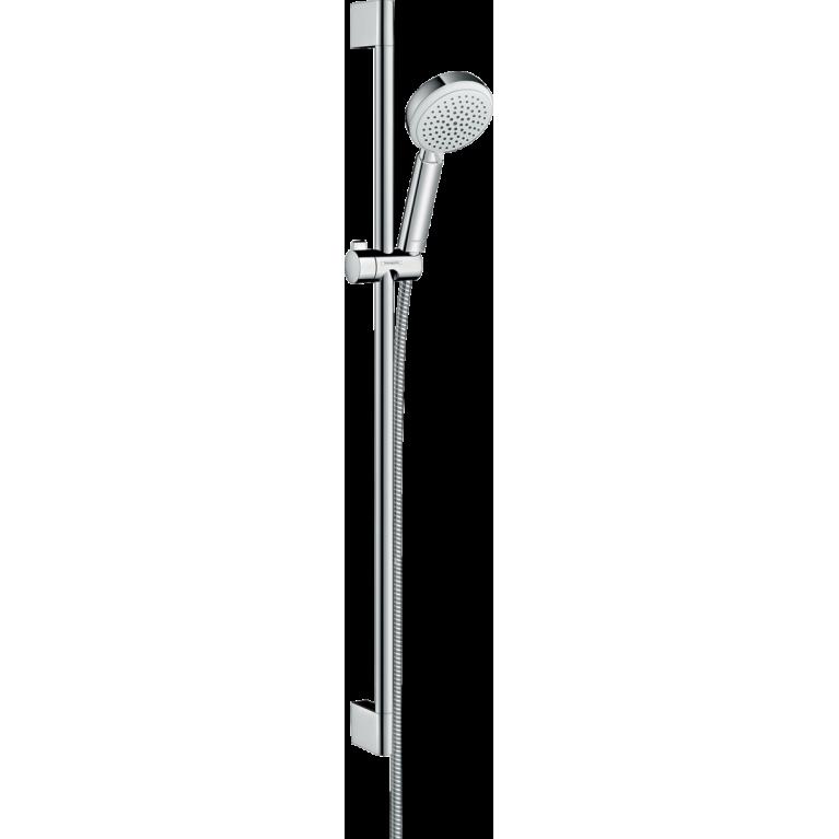 Crometta 100 Vario Душевой набор, штанга 90 см (белый / хром) , фото 1