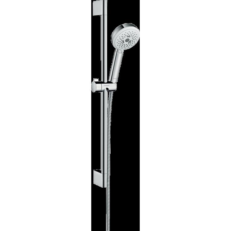 Crometta 100 Multi Душевой набор, штанга 65 см (белый / хром), фото 1