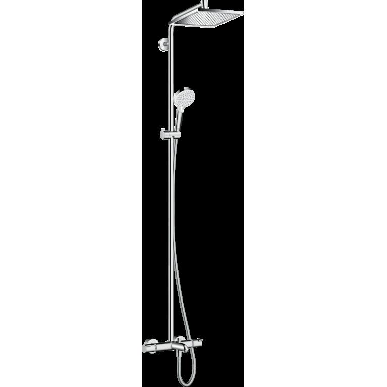 Crometta E Showerpipe 240 1jet с термостатом для ванны, хром, фото 1