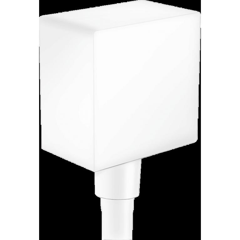 FixFit Шланговое подсоединение Square с клапаном, матовый белый, фото 1
