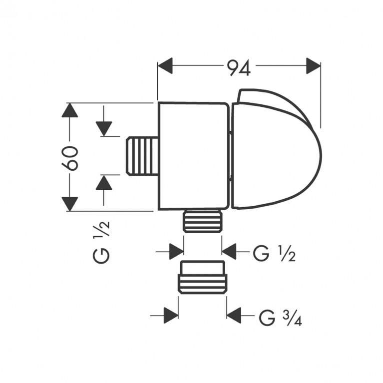 Fixfit Шланговое подсоединение (хром) 27452000, фото 2