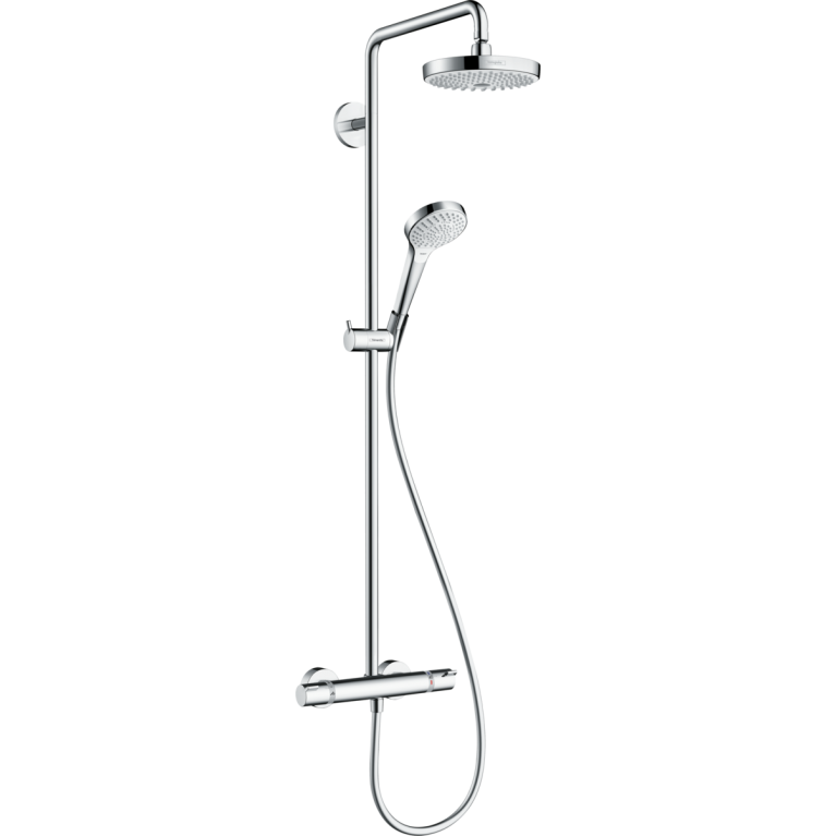 Croma Select S 180 2jet Showerpipe Душевая система с термостатом, белый хром