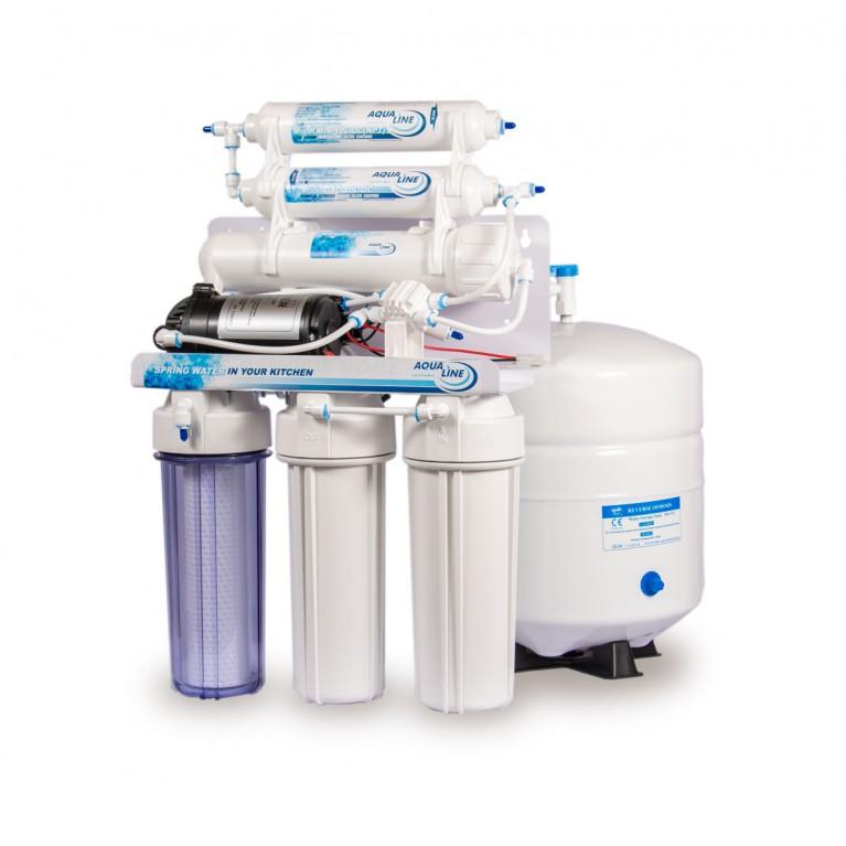 Фильтр воды осмос Aqualine RO-6 P с помпой