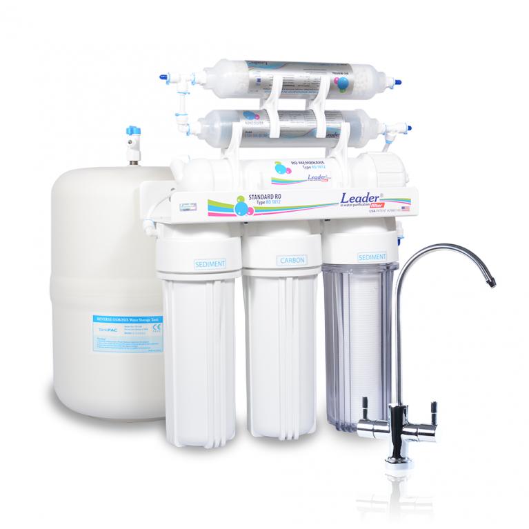 Фильтр для воды Leader Standart RO-6 с четырехкомпонентным минерализатором и постфильтром с наночастицами серебра