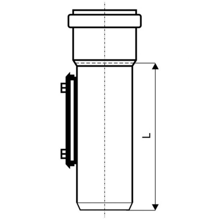 Ревизия для наружной канализации Ostendorf KG 200 223600, фото 2