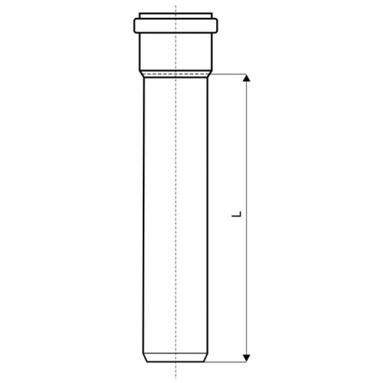 Труба для наружной канализации Ostendorf KG Ду 125 1000 мм 221010, фото 2