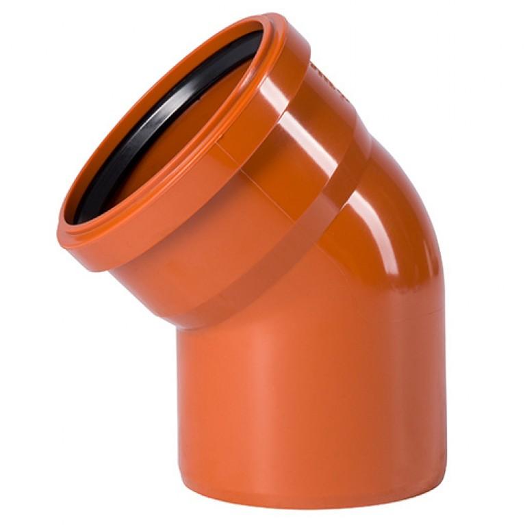 Купить Отвод для наружной канализации Ostendorf KG Ду 200/45 у официального дилера Ostendorf в Украине
