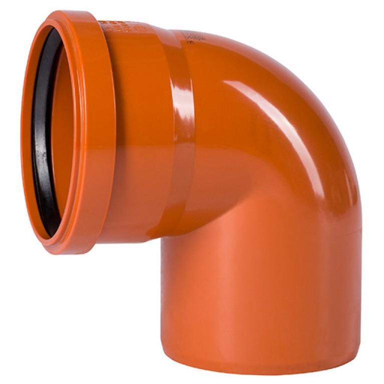 Отвод для наружной канализации Ostendorf KG Ду 110/87