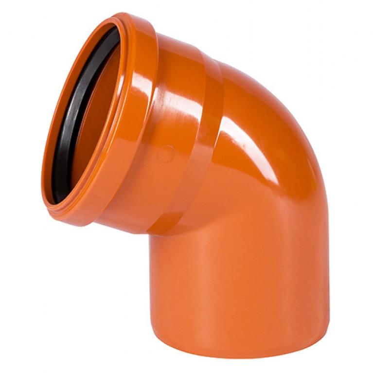 Отвод для наружной канализации Ostendorf KG Ду 110/67