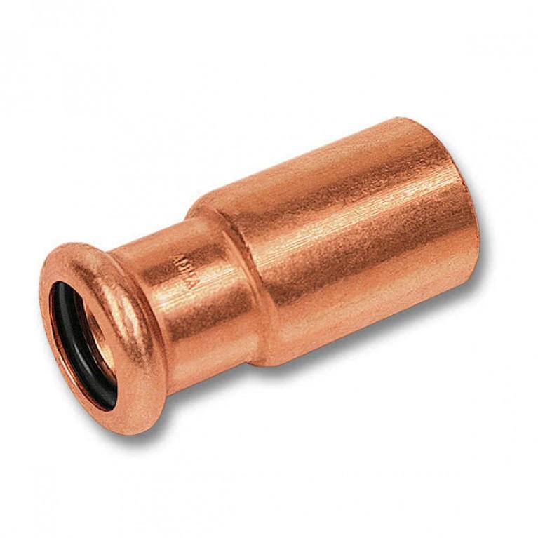 Муфта-пресс Sanha переходная однораструбная медь, 22ax15 тип 6243