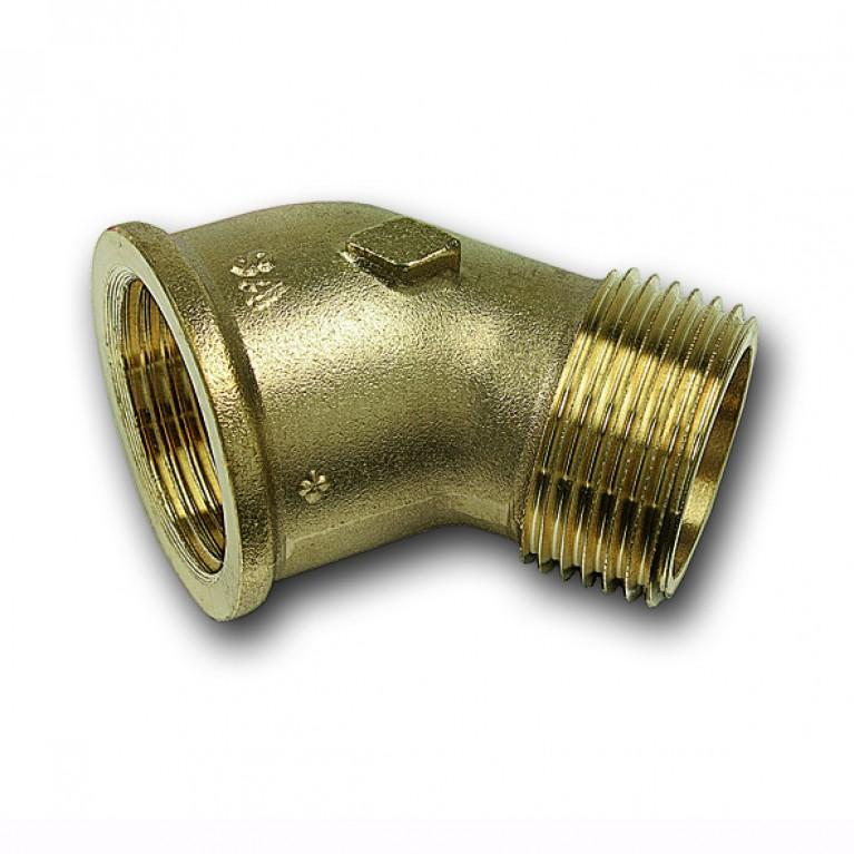 Угольник Sanha 45° ВР-НР бронзовый, 11/2 тип 3121