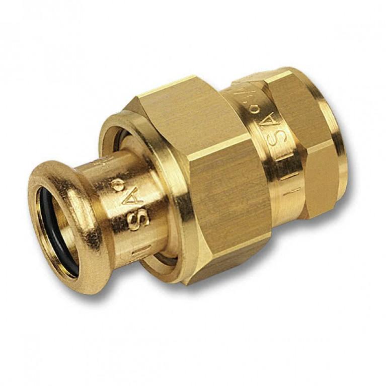 Разъемное соединение с плоским уплотнением Sanha пресс-ВР бронза, 54x2 тип 8330G
