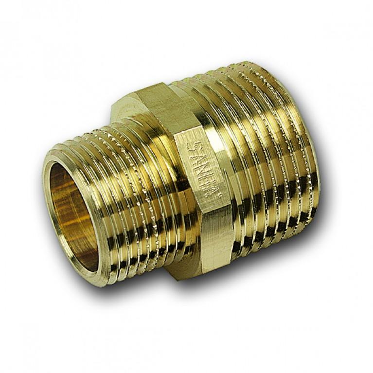 Ниппель редукционный Sanha НР/НР бронзовый, 3/4x1/2 тип 3245