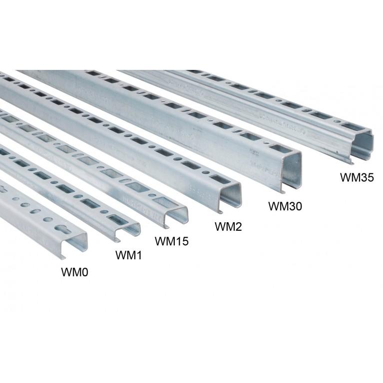 Профиль монтажный Walraven BIS RapidRail®  тип WM0 27х18х1,2 мм 6 м