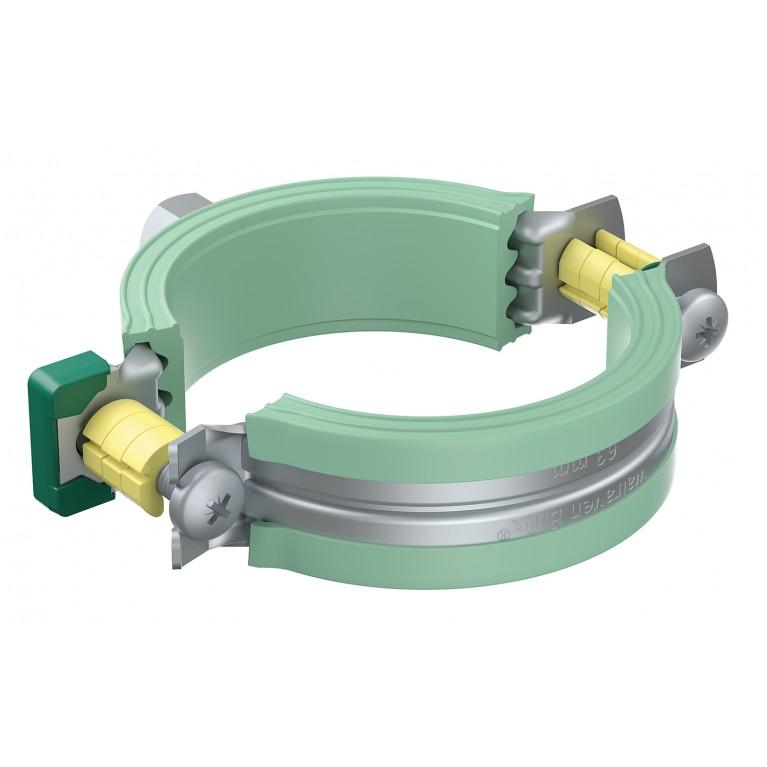 Хомут двухвинтовой Walraven для пластмассовых труб Bifix® 5000 G2 (BUP1000) D 25 мм M8/10 74x59 мм