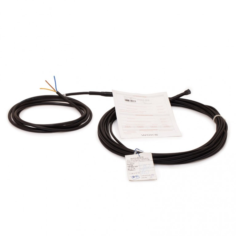 Нагревательный кабель для систем антиобледенения WOKS 30 615Вт 21 м