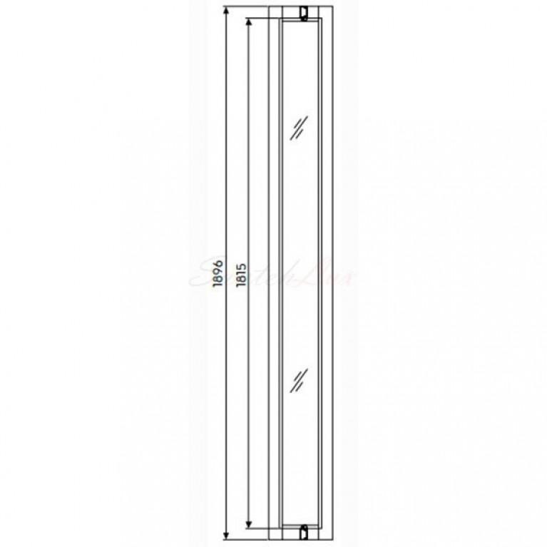 GEO 6 панель расширяющая 18 см, закаленное стекло, серебряный блеск, фото 2