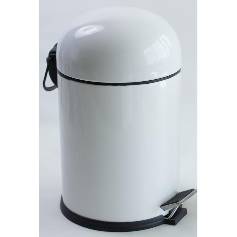 BON ведро для мусора с педалью 5л, цвет белый