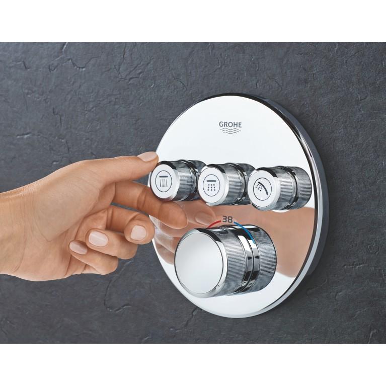 SmartControl Термостат для душа/ванны с 3 кнопками, накладная панель 29121000, фото 3