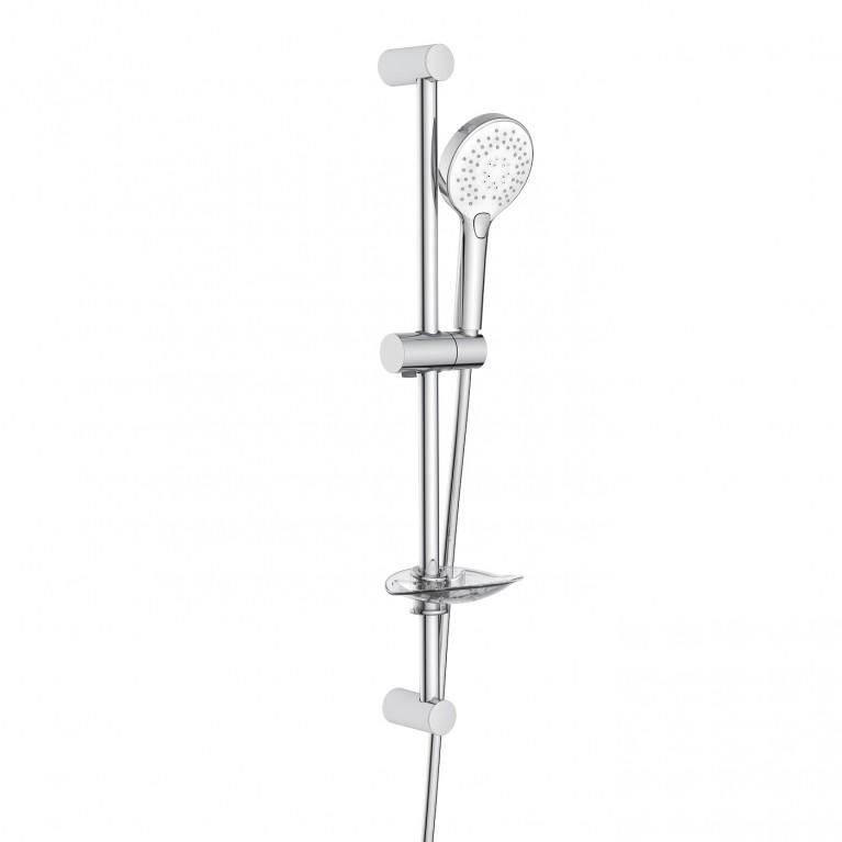 Штанга душевая L-66cm, ручной душ 3 режима, шланг, мыльница