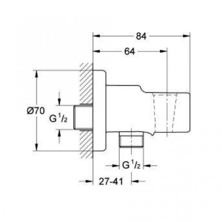 Relexa Plus Подключение для душевого шланга (с держателем ручного душа) 28628000