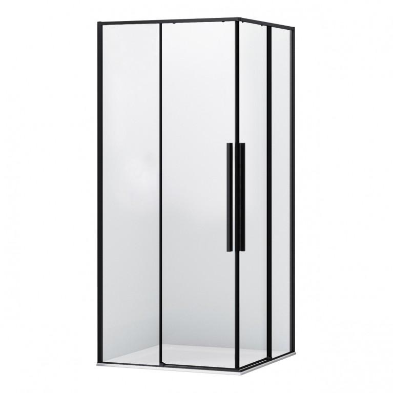 Купить A LÁNY Душевая кабина квадратная 900*900*1950 (стекла+двери), двери раздвижные, стекло прозрачное 6 мм, профиль черный у официального дилера EGER в Украине
