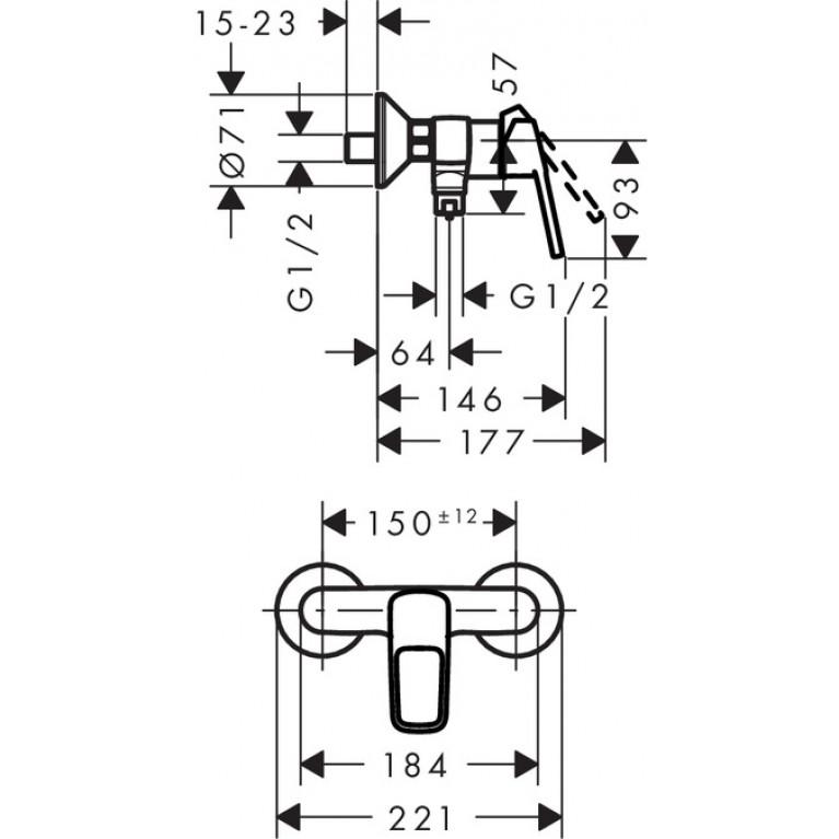 Logis Loop Смеситель для душа однорычажный, хром 71247000