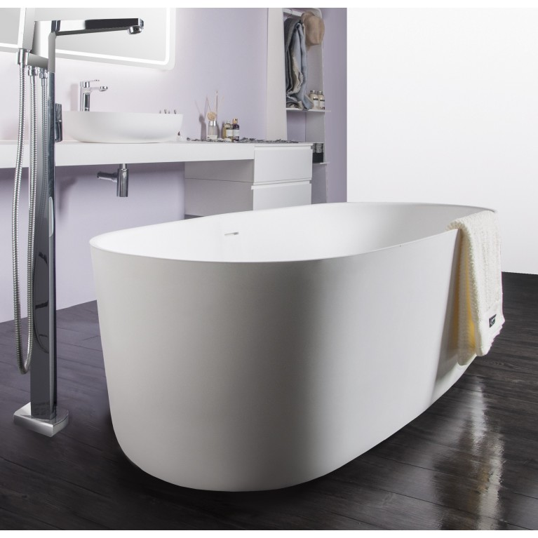 Ванна отдельностоящая каменная Solid surface 1680*800*530mm