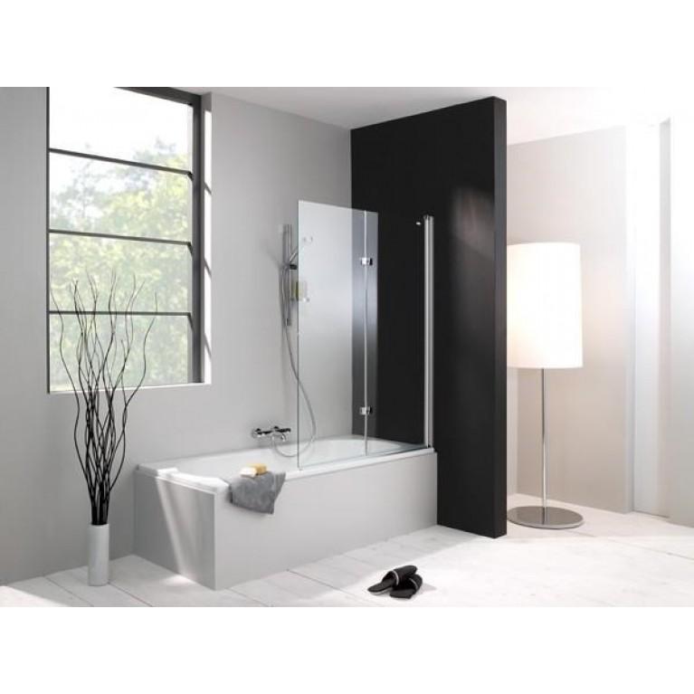 DESIGN PURE шторка для ванны, 100*150 см, профиль хром., стекло прозрачное с Anti-Plaque, крепление справа, фото 2