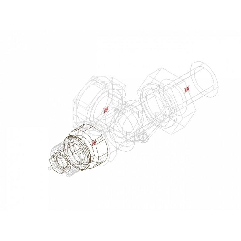 Danfoss Клапан RA-N 15 термостатический, осевой вх. 1/2 013G0153, фото 2