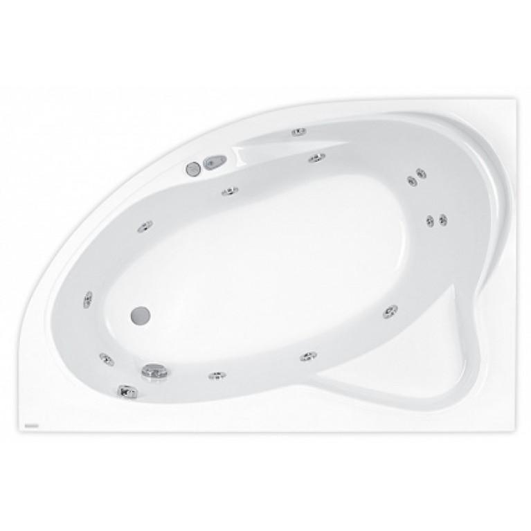 EUROPA ванна 165*105см, правая, с гидромассажем + система ECONOMY 1 стандарт