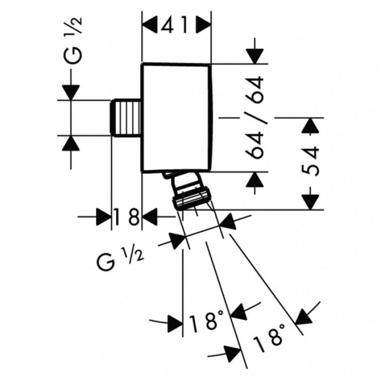 Fixfit Шланговое подсоединение ½' с защитой от обратного тока воды 27414000