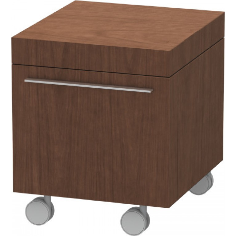 FOGO тумба 500*480мм, мобильная, с выдвижным ящиком, цвет американский орех, фото 1