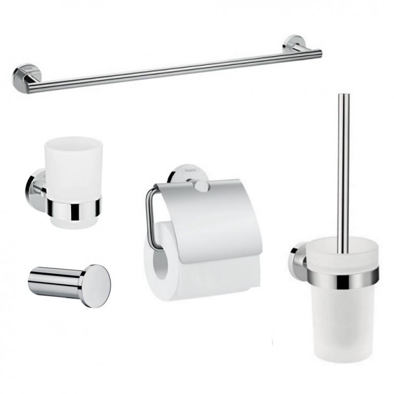 Logis Набор аксессуаров: крючок, полотенцедержатель, держатель туалетной бумаги, стакан,туалетная щётка, фото 1