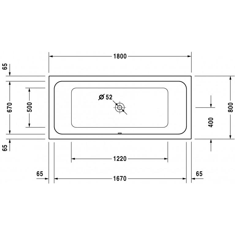 D-CODE ванна 180*80см 7001010000000000, фото 2