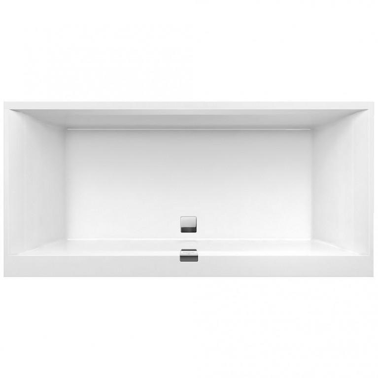 SQUARO EDGE 12 ванна 190*90см, с системой гидромассажа Combipool Comfort, техническая часть 1, белый альпин