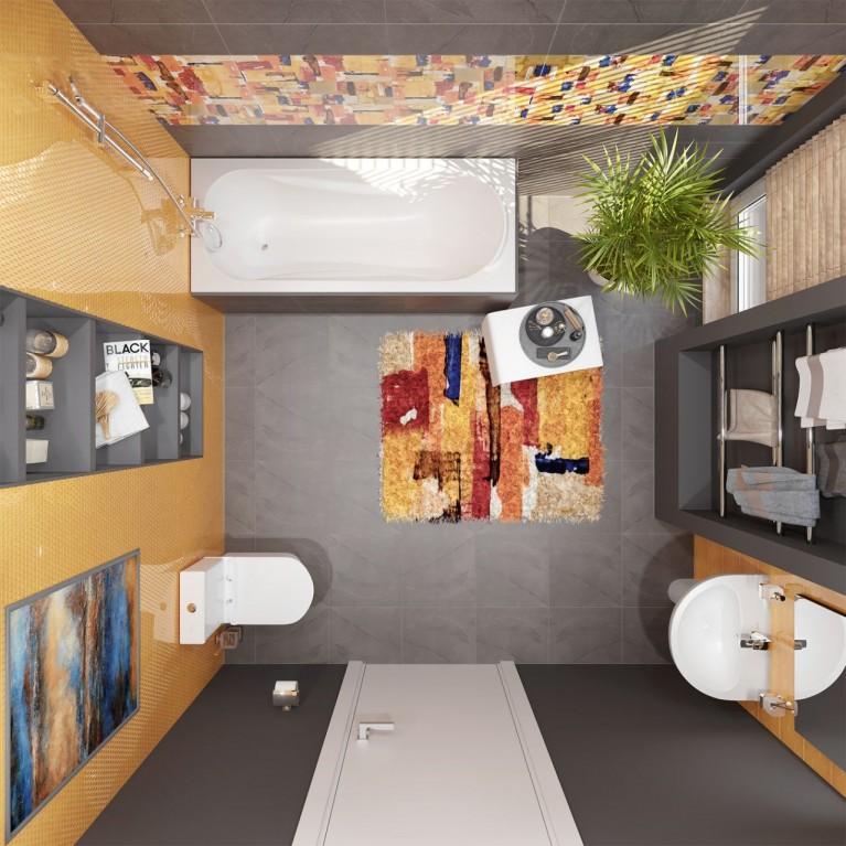 Комплект San Mori-3 (FIESTA RIM компакт, FIESTA тумба 60 с умывальником, FIESTA биде, BENITA Смеситель для раковины, для биде и для ванны, ванна FIEST