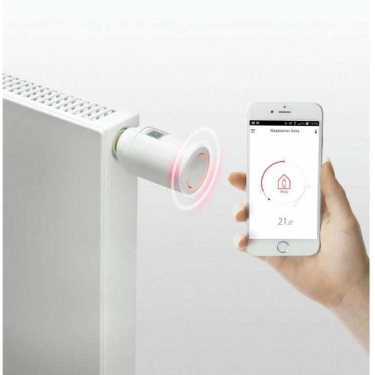 Danfoss Умная термоголовка Eco, Bluetooth, резьба М30 х 1.5, 2 x AA, 3V, белая 014G1001, фото 3