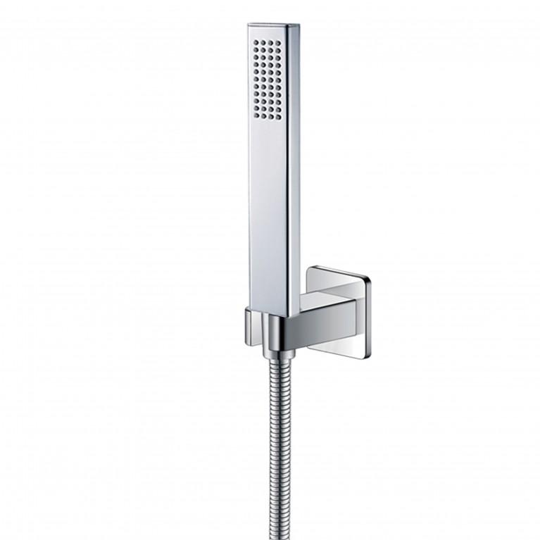 GRAFIKY набор душевой - ручной душ 1 режим, шланг, держатель, хром, фото 1