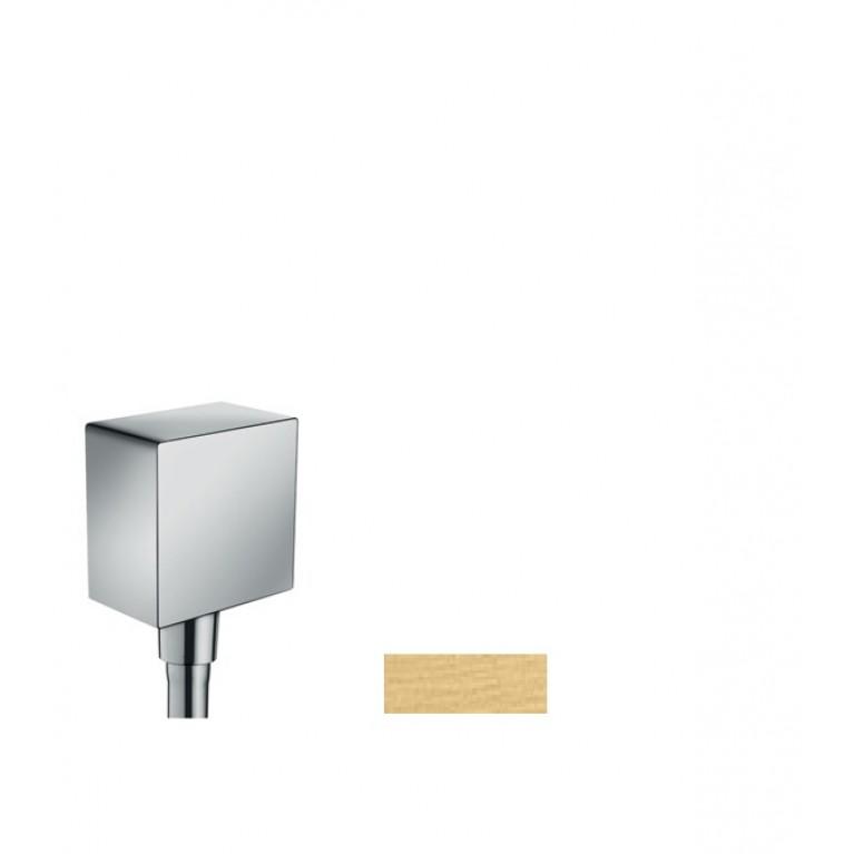 Fixfit Square Шланговое подсоединение  с защитой обратного тока , без шарнира, цвет шлиф. золото