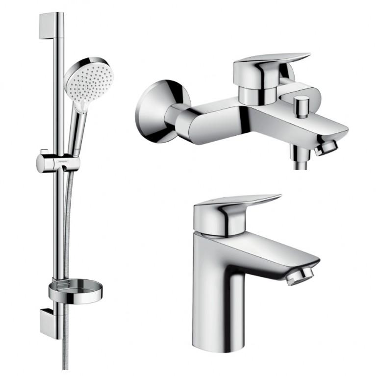 Logis Набор смесителей для ванны (71100000+71400000+26553400), фото 1