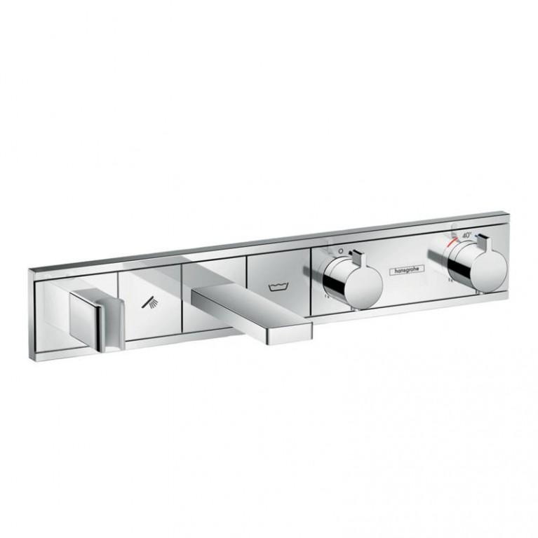 RainSelect Термостат для ванны, 2 потребителя, с изливом, (хром), фото 1