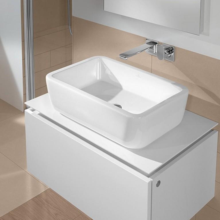 ARCHITECTURA умывальник 60*40см прямоугольный накладной с переливом, цвет белый Alpin 41276001